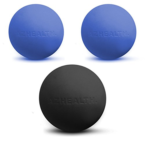 AZHEALTH-Massage-Therapy-Ball-Set-3-Lacrosse-Balls-for-Myofascial-Release-Trigger-Point-Therapy-and-Deep-Tissue-Massage-Carrying-Case-Included