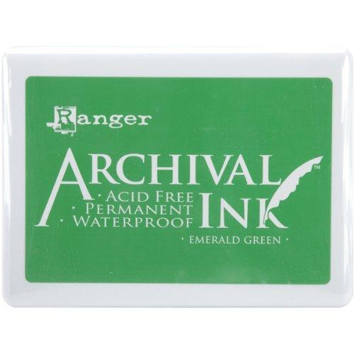 Ranger 489033 Archival Ink Jumbo Ink Pad #3, Emerald Green