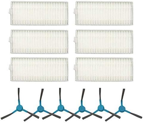 Camisin Filtro Hepa Cepillo Lateral para Aspiradora Rob/óTica para Conga Slim 890//750 Piezas de Aspiradora Rob/óTica