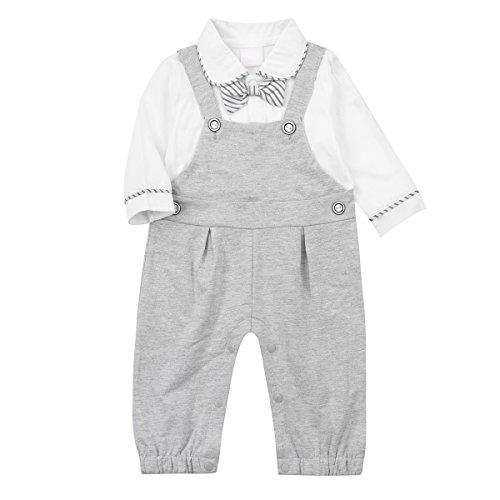 Baby Boy Outfits,Clothing Set Toddler Jumpsuit Romper Onesie with Bowtie & Strap