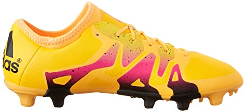 Adidas Performance X 15.2 Firma / artificial de fútbol para suelo de la grapa, negro / shock Mint / Gold/Black/Shock Pink