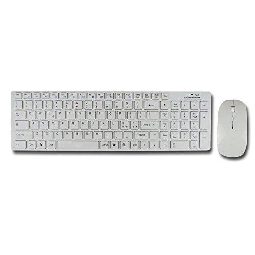 95 opinioni per Tsing kit Tastiera Mouse Wireless Tastiera Multimediale 2.4GHz Ultra-sottile e