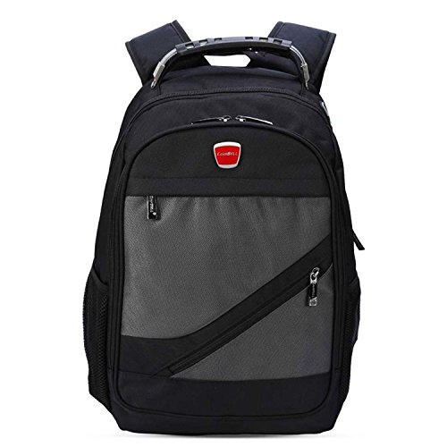Business Computer Backpack for 15.6 Inch Laptop Large Capacity Travel Bag Water Resistant College Student School Bookbag for Men Women Grey