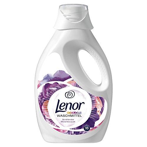 Lenor Colorwaschmittel Flüssig Strahlendes Blütenbouquet, 1.2L, 3er Pack (3 x 16 Waschladungen)