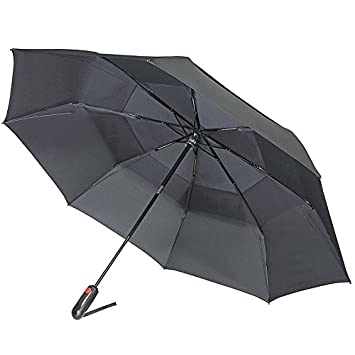 Black One Size Knirps 889-100 Xtreme Vented Duomatic Umbrella