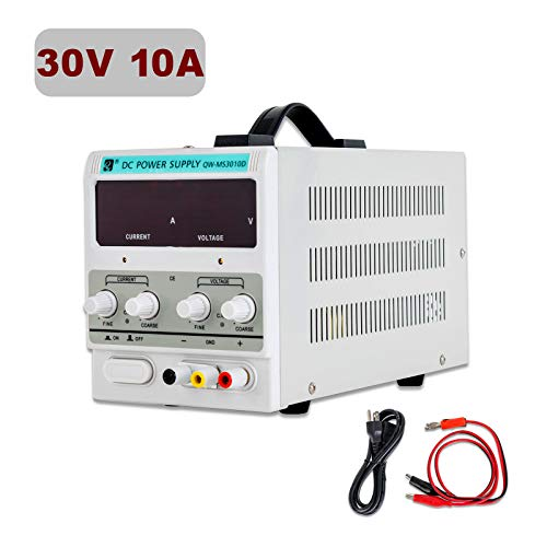 SUNCOO Variable DC Power Supply 0-30V 0-10A Adjustable Regulated Lab Bench Power Supply with Digital LED Display Alligator Clip Cable, US Standard Cord