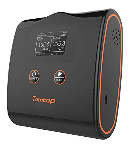 TemTop LKC-20T Air Quality Monitor PM2.5/PM10/Temperature and Humidity Detector