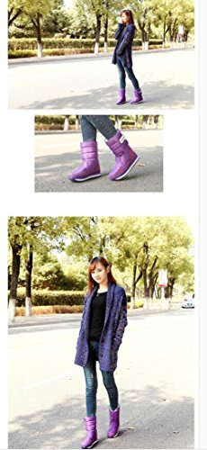Slip Purple Snow Women Boots Waterproof Shoes Winter Respeedime Flat Plush Non Cotton wSPtqPX