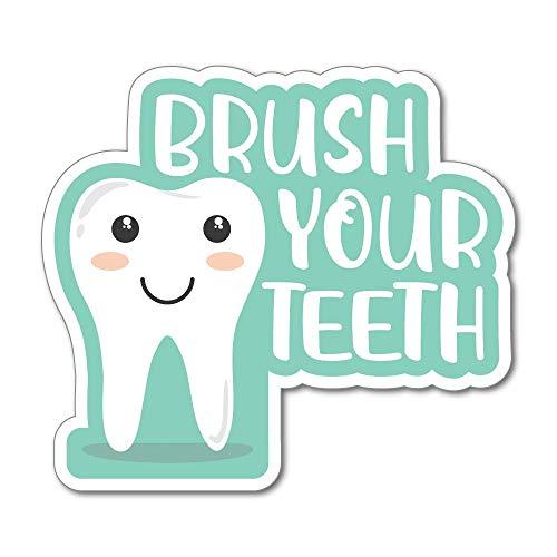 Brush Your Teeth Children Kids Encouragement Toothpaste Tooth Car Sticker Decal