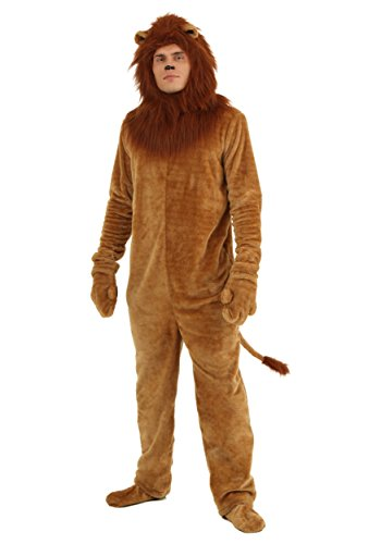 Fun Costumes Plus Size Deluxe Lion Jumpsuit Faux Fur Costume 3X Brown ()