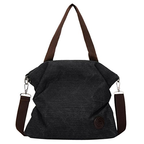 Black Handbag Women Canvas Bag Satchel 2018 Tote Tefamore Beach Messenger Shoulder New q14BB