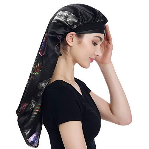 Satin Braid Bonnet Satin Wrap Scarf for ()