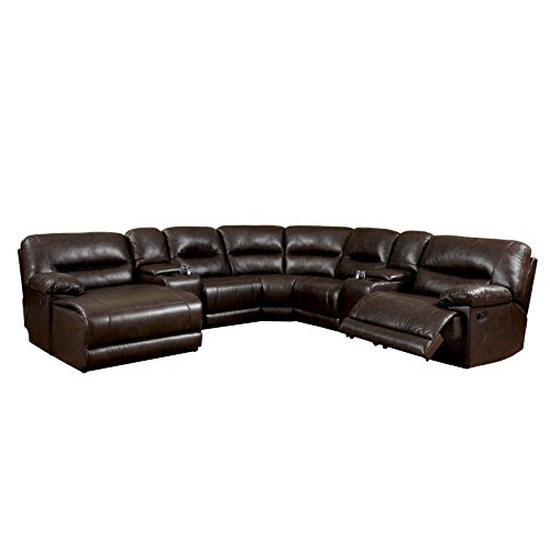 - Furniture of America Griffith Corner Sectional Sofa