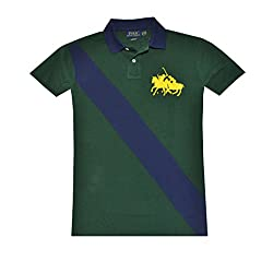 Polo Ralph Lauren Men Custom Fit Diagonal Stripe Double Pony Logo Shirt