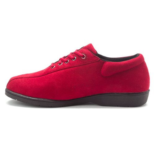 Propet Womens Stephanie Lace-Up Red Velour S29LQj3K