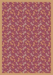 (Joy Carpets Kaleidoscope Dragonflies Whimsical Area Rugs, 64-Inch by 92-Inch by 0.36-Inch,)