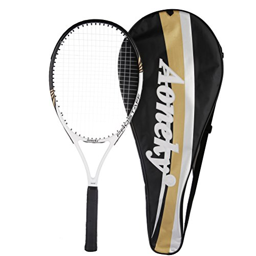 """Aoneky 27"""" Adult Tennis Racket (White)"""