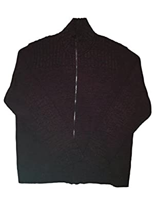 Calvin Klein Full Zip Cable Knit Ribbed Sweater for Men