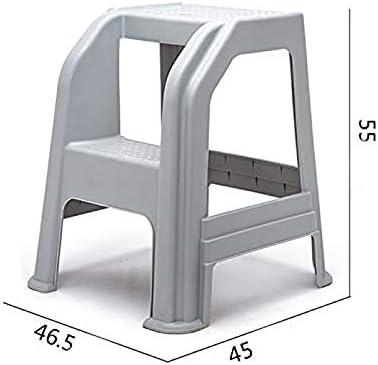 YWAWJ Taburete de plástico moldeado de 2 escalones con escalones antideslizantes Escalera de 300 kg de capacidad Escalera de lavado de autos Taburete de belleza for automóviles Escalera de plástico re: Amazon.es: