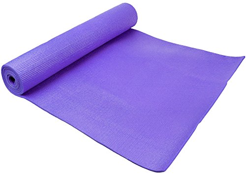 Spoga 1/4 Inch Anti Slip Exercise Yoga Mat with Carrying Strap