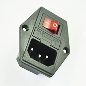 sodial r 3 pin iec320 c14 inlet module plug. Black Bedroom Furniture Sets. Home Design Ideas