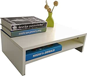 EVST Soporte de madera para ordenador portátil, TV, elevador de pantalla, organizador de escritorio: Amazon.es: Electrónica