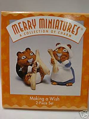 Hallmark Merry Miniatures Making a Wish Thanksgiving Set 1997