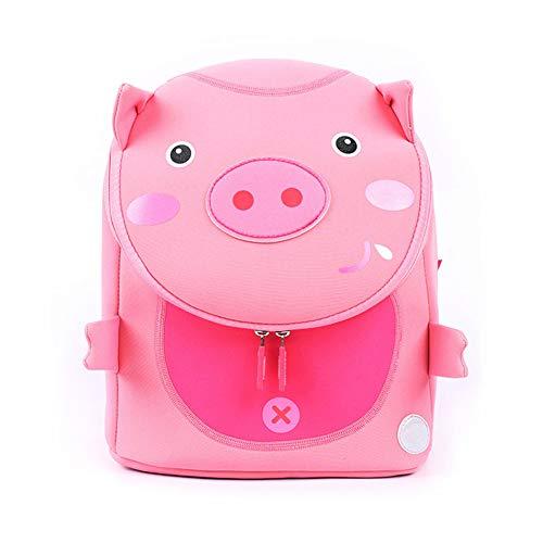 Eleanos Toddler Cat Backpack for Kindergarten Kids Waterproof Preschool Bag Cute Baby Bag with Ant-lost Leash Pig -