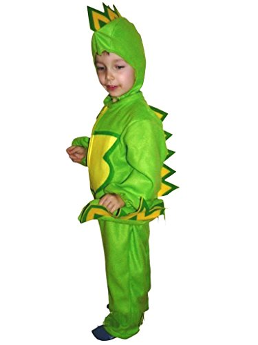 Fantasy World F01 Halloween Dragon Costume for children Sizes 5 - Raptor Costume Prank
