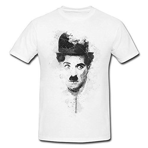 Charlie Chaplin T-Shirt Frauen, Mädchen mit stylischen Motiv von Paul Sinus