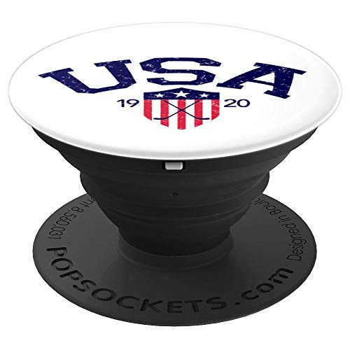 Usa Phone - Vintage USA National Hockey - PopSockets Grip and Stand for Phones and Tablets