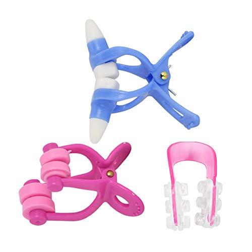 Anself 3Pcs Nose Shaper Lifting Bridge Straightening Clip Nose Up Clip Nose Massage Tools Correction - Bridge Nose Up Straightening