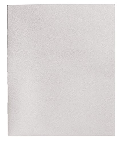 School Smart 2-Pocket Folders, White, Pack of 25