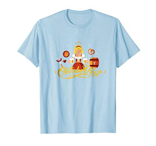 Mens Oktoberfest Bier Shirt German Girl with Stein Beer Gift Tee Large Baby ()