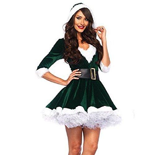 Mrs Claus Adult Costume Elf Green - (Leg Avenue Elf Costumes)