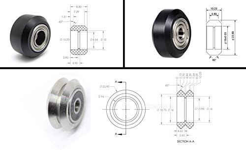 Juego de ruedas en V (todos los tipos) Xtreme/Delrin/Acero/Sólido ...