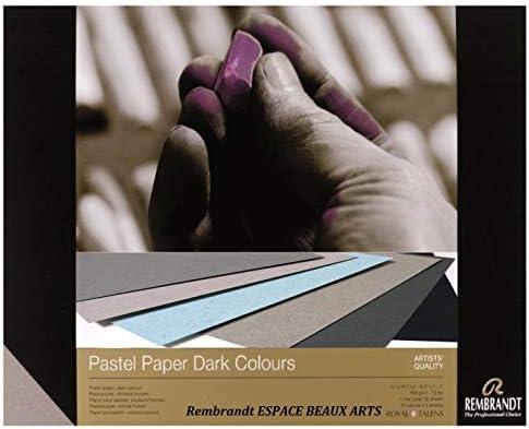 Rembrandt Pastellpapier, Pastell, dunkle Farben, 21x29,7 cm, 160 g, 6 Farben, 30 Blatt (France Import) Espacebeauxarts