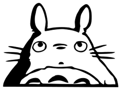 - Totoro Head Car Window Decal (black, 10