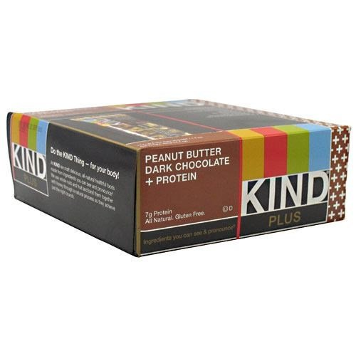 Kind Plus, Peanut Butter Dark Chocolate + Protein by KIND SNACKS