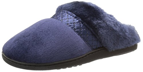 isotoner-womens-velour-diane-hoodback-slippers-navy-blue-large-85-9-m-us