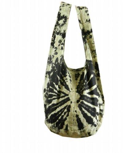 ec1217e2b0 Tie Dye Sling Crossbody Shoulder Bag Purse Hippie Hobo Cotton Bohemian  Colorful Firework (Black VJ14)  Shoes