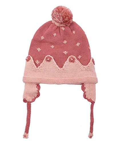 - Eriso Baby Little Girls Knitted Flower Bud Cap Crochet Hat (3-7 yrs, Fuchsia)