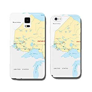 Ontario road map cell phone cover case iPhone6