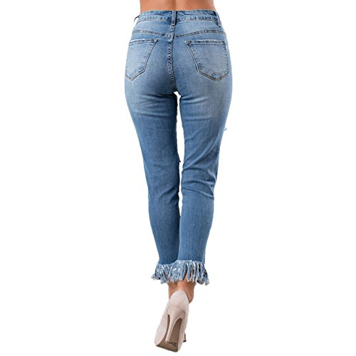 In Blue Attillati 786022 Denim Whisker Pantaloni Skinny Blu Houjibofa q1nwzU85q
