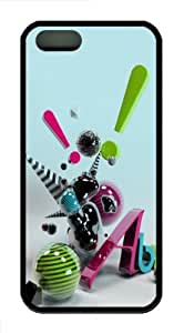 3D abstract art TPU Case Cover for iPhone 5 and iPhone 5s ¡§C Black