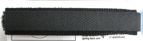Speidel 12mm All Black Nylon Sport Fast Wrap One Piece Band Fits Timex & Others