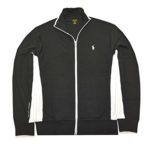 Polo Ralph Lauren Men's Full-Zip Interlock Track Jacket (XX-Large, Polo Black Multi)