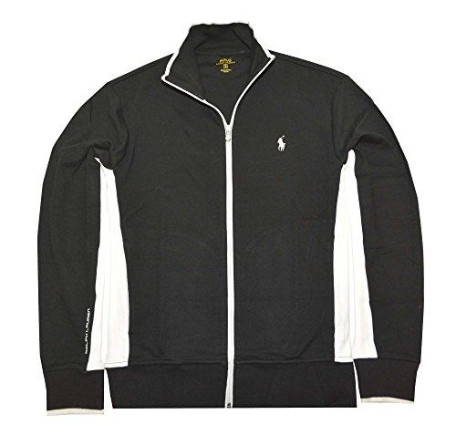 Polo Ralph Lauren Men's Full-Zip Interlock Track Jacket (X-Large, Polo Black Multi)