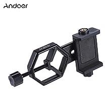 Andoer Andoer Metal Telescope Mount Adapter Bracket with Adjuatable Smartphone Cell Phone Holder Clip for Binocular Monocular Spotting Scope Microscope for iPhone 7Plus/ 7/ 6s/ 6Plus
