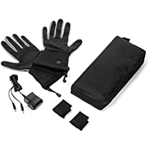 Verseo Electric ThermoGloves Rechargeable Battery Heated Gloves Thin Enough To Use As A Glove Liner or Ski Glove Great for Cold Weather Activities Like Snowboarding, Snow Plowing, Biking or Walking